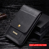 Universal Genuine Leather Phone Case Retro Fashion Mobile Phone Bag Pouch For IPhone X 8 7