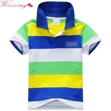 Children's Summer Boys Multi Color Short Sleeve Striped Cotton Tops Boy Clothes T Shirt Camisa