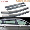 4 unids/lote Coche Toldo Refugio Visera de la Ventana Para BMW X3 X1 X5 X6 2008-2016 Sol protección contra la Lluvia Cubierta Car Styling