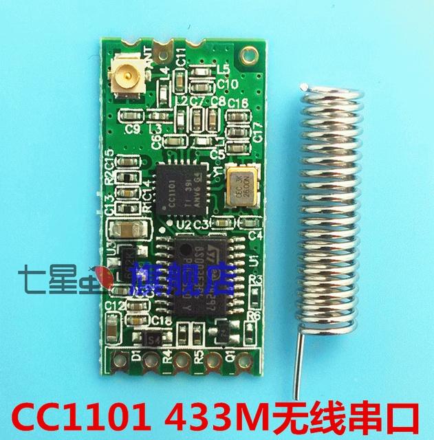 Sete inseto 43 para 3 m porta serial cc1101 módulo sem fio de baixa potência