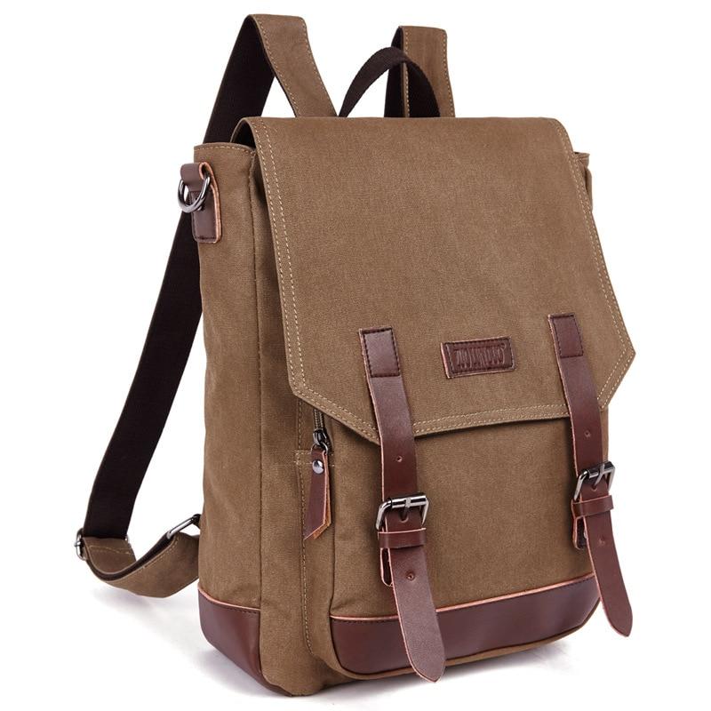 ФОТО 2016 New vintage Laptop Backpack For Man Canvas Fashion Leisure Backpack Men Bags Supreme Backpack Bag mochila masculina bolsa