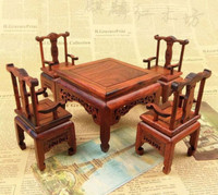 TNUKK A set of beautiful.China annatto furniture chair and table decoration collection