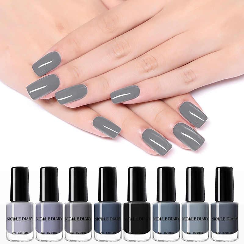 NICOLE DIARY 73 Colors Nail Polish  Red Gray Glitter Pearl Nail Art Varnish Water-based Manicure Nail Art Lacquer 6ml