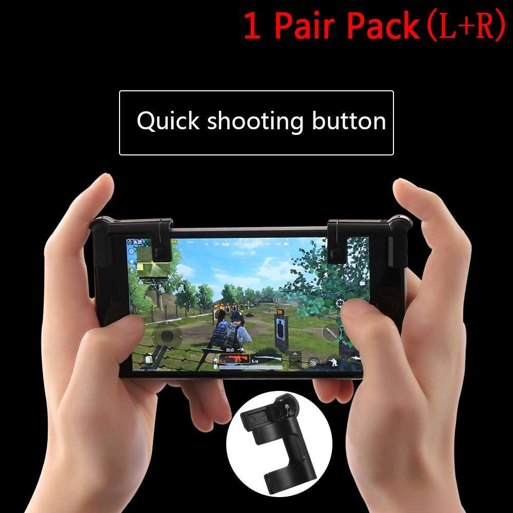 1 Pair Free Fire PUBG Mobile Game Shoot Button Trigger L1R1 Joystick Gamepad Rules of Survival Knives Out STG FPS For iPhone IOS