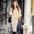 Original 2016 Brand Pullover Autumn Winter Light Beige Plus Size Long Sleeve Crocheted Fashion Twist Sweater Women Wholesale