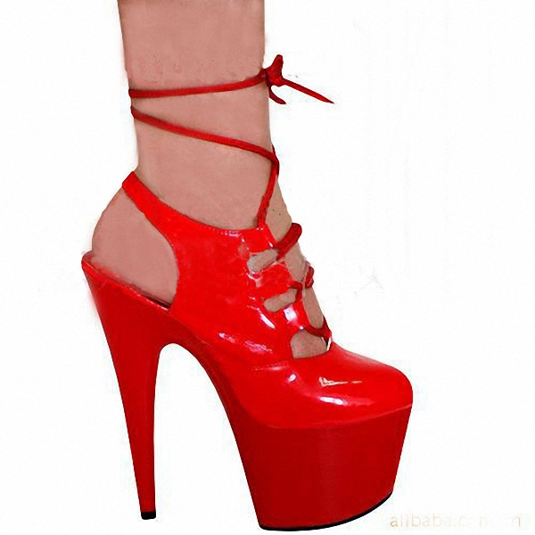ФОТО Gorgeous red Roman style The bride shoes banquet lattice-windows documentary shoes catwalk wedding specials