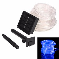 39.4FT Solar 100 LED STRIP Rope Tube Lights String Waterproof Outdoor Garden - L057New hot