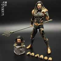 DC Justice League Aquaman Statue Trident Action PVC Collectible Figure Toys 18cm 1/12 Scale