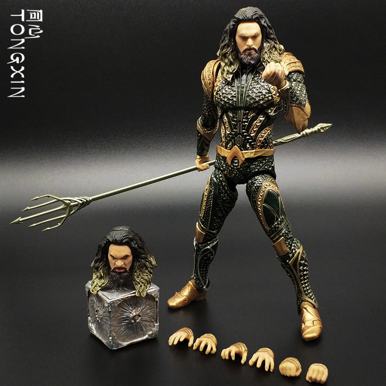 Statue d'aquaman de ligue de Justice de cc Action de Trident jouets de Figure de collection de PVC échelle de 18 cm 1/12