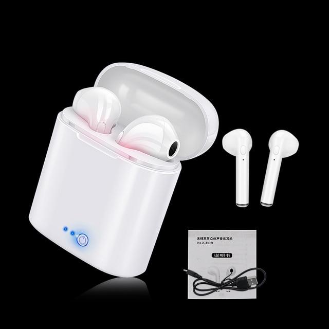 I7 Tws draadloze headset Bluetooth oortelefoon twin hoofdtelefoon Bluetooth headset met opladen doos voor alle smartphones