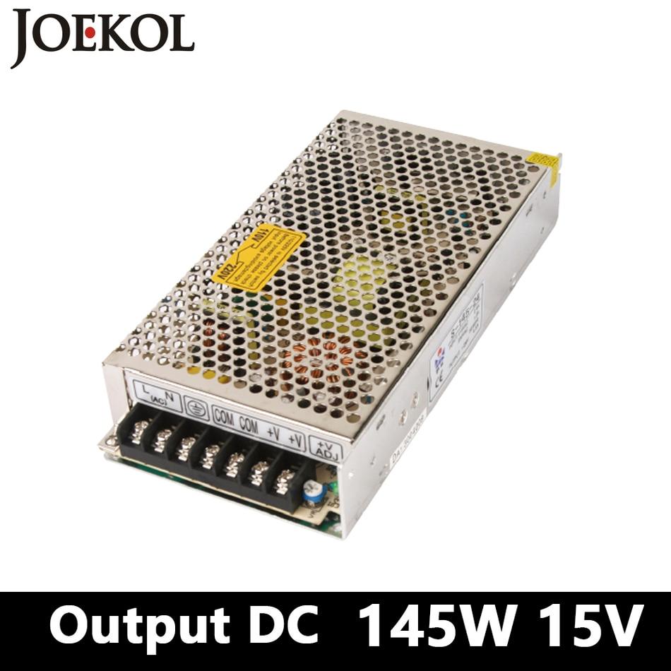 switching power supply 145W 15v 10A,Single Output watt power supply for Led Strip,AC110V/220V Transformer to DC 15V,led driver led driver ac input 220v to dc 1800w 0 110v 16 4a adjustable output switching power supply transformer for led strip light