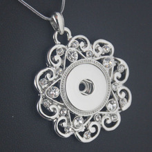 2016 Newest pendant Necklace Hot Sale snap button jewelry OEM, ODM NE229 (fit 18mm snaps)