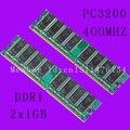 Два чипсета компьютерной памяти DDR1 по 1GB. Плотность 2Rx8 CL3 DIMM. Бесплатная доставка