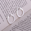 925 sterling silver earrings , 925 silver fashion jewelry , handcuffs shiny  /ijsaraza hxfaqoma LQ-E123