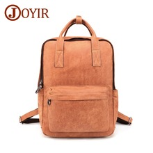 JOYIR Genuine leather Business Bags For Men High Quality Laptop Backpack Male Vintage Daypack Travel Casual School Book Bags
