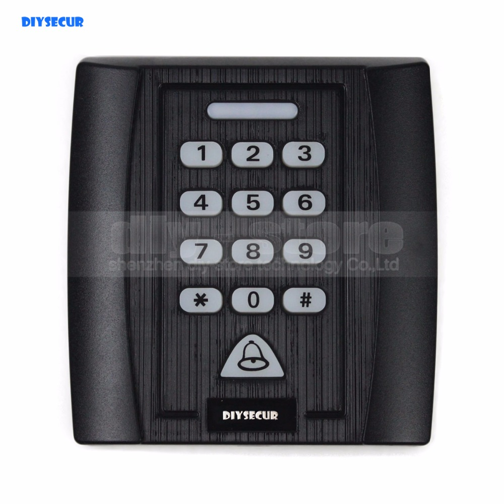 DIYSECUR Proximity RFID Reader 125KHz Keypad Access Controller Security System Kit Doorbell Button