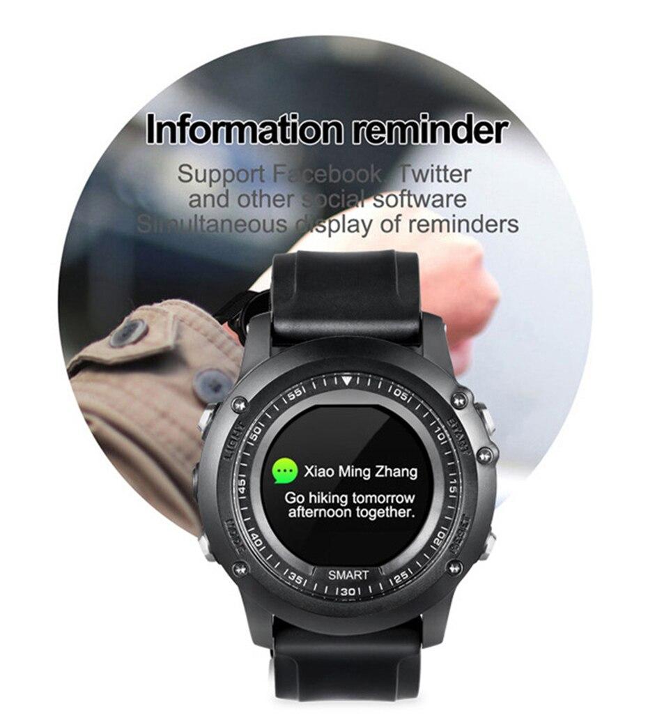 COLMI T2 IP68 Waterproof Heart Rate Monitor Push Message Call Reminder Clock Bluetooth 4.0 Brim Men Sport Smart Watch 12