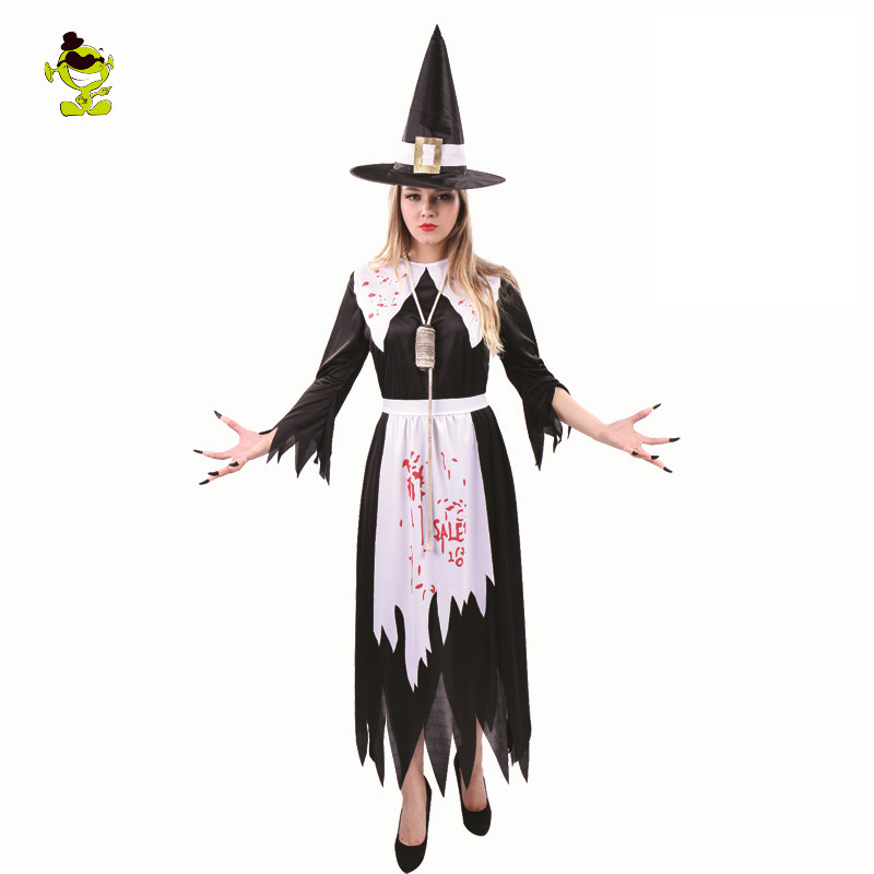 2017 new adult salem witch costume adults womens witch costume black fancy dress halloween cosplay costume - Salem Witch Halloween Costume
