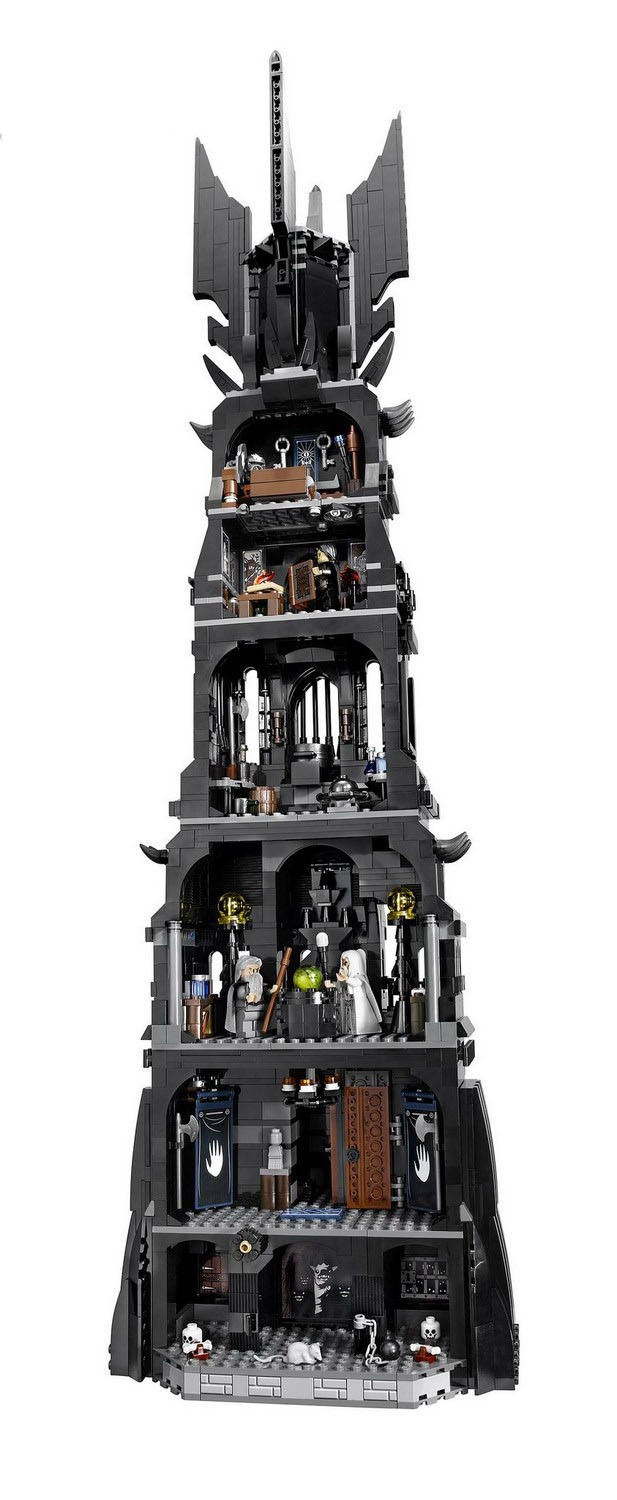 Lepin 16010 2430Pcs Lord of the Rings The Tower of Orthanc Model Building Kits Blocks Bricks Toys Gift 10237 hot sale the hobbit lord of the rings mordor orc uruk hai aragorn rohan mirkwood elf building blocks bricks children gift toys