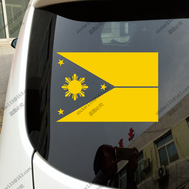 Flag of the philippines eight ray sun car truck decal sticker vinyl die cut