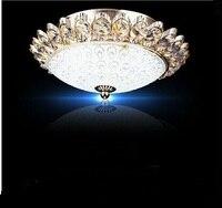 Европейском стиле потолочный светильник круговой атмосфера LED Кристалл проход коридор огни балкон Потолочные светильники ta9207
