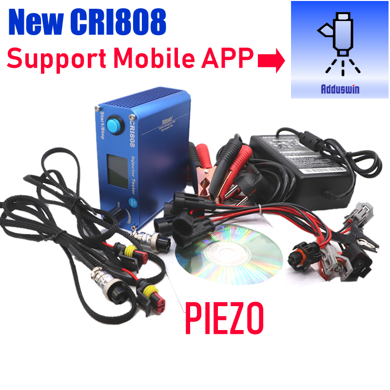 CRI808 Diesel Bluetooth common rail injector tester electromagnetic and piezo injector tools support Android windows software
