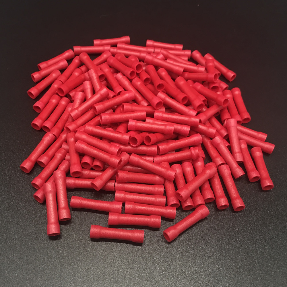 900pcs BV 1.25 0.5mm 1.5mm 22 16 AWG Red Insulated Straight Wire ...