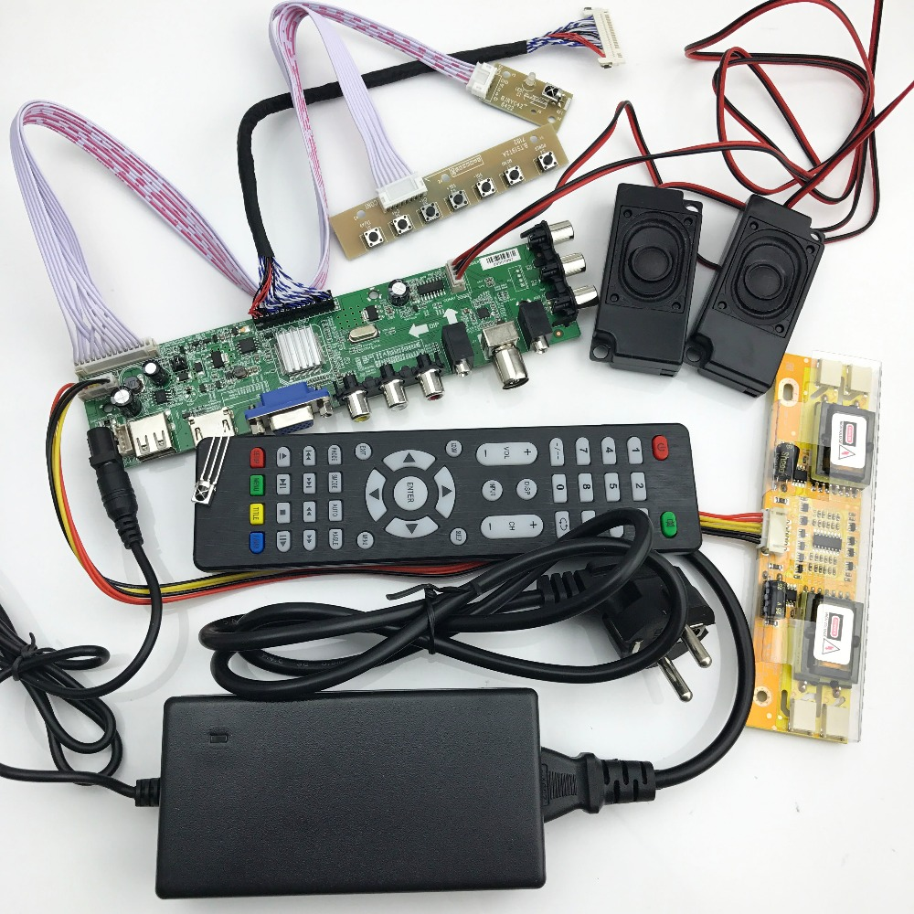 DS.D3663LUA.A81 DVB-T2/T/C Digital TV 15-32 Inch Universal LCD TV Controller Driver Board For 30pin 2ch,8-bit