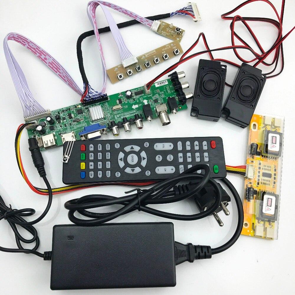 DS. d3663LUA. a81 DVB-T2/T/C digital TV 15-32 polegada Universal TV LCD Placa de Driver de Controlador para 30pin 2ch, 8-bit