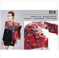 Free shipping high-grade double silk flannelette prints long silk scarves female amphibious thickening mulberry silk shawl scarf