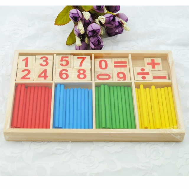 US $5 28 35% OFF|Wooden Numbers Mathematics Toys for Kid Educational Math  Number Calculator Game Play Toys Early Learning Counting Toy for Kids-in
