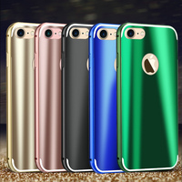 MAKAVO For Apple iPhone 7 Plus Case Fashion Cool Bright Shiny Aluminum Metal Frame PC Back Cover For iPhone7 Phone Cases