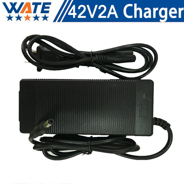42 V 2A Cargador 10 S 36 V cargador de batería de Litio de 36 V bicicleta eléctrica batería de litio de carga envío gratis