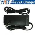 42 V 2A Carregador 10 S 36 V carregador De bateria de Lítio para 36 V bicicleta elétrica bateria de lítio de carregamento frete grátis