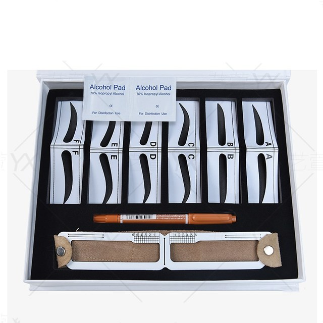 Microblading Eyebrow Stencil Golden Ratio Measure Models Shaping Permanent Makeup Tattoo Design Calipers Stencil Eyebrow Ruler 3