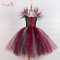 Maleficent Evil Queen Girl Tutu Dress Children Christmas Cosplay Costume Dresses Kids Girl Party Photography Clothes
