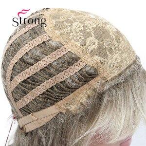 Image 5 - Strong beauty perruque complète synthétique classique Blonde Ombre à couches pour femmes, perruque longue Shaggy, couleur choix