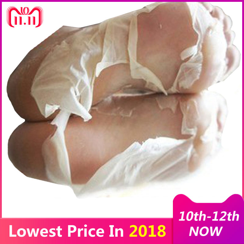 цена 2Pair=4Pcs Baby Feet Peel Mask Remove Dead Skin Foot Mask for Legs Cream Exfoliating Mask Foot Care Socks for Pedicure Spa Socks