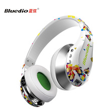Bluedio Air Excessive-Finish Wi-fi Bluetooth headphones HD Diaphragm Twistable Headband with microphone 3D Encompass Sound