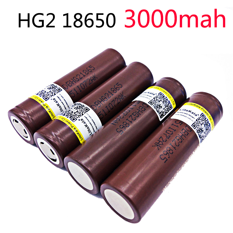 Liitokala 3.7v 18650 battery 18650 rechargeable lithium battery for lg hg2 electronic cigarette 20a large current discharge