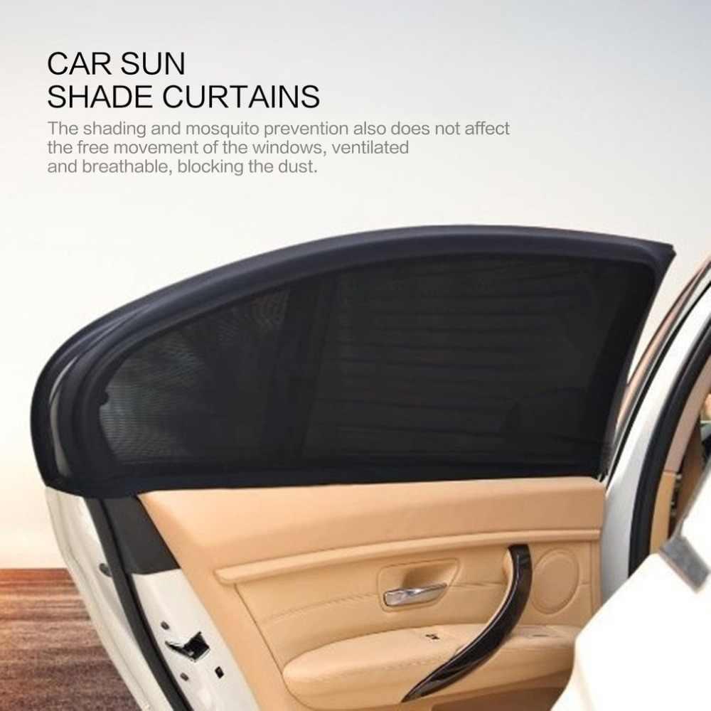 Capa flexível para janela traseira de carro, 2 peças, para-sol, cortina de malha, proteção uv, capa de malha, mosquiteiro, manga protetora