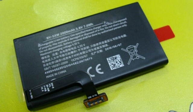 100% Genuine Battery For NOKIA BV-5XW Lumia 1020 EOS 2000mAh