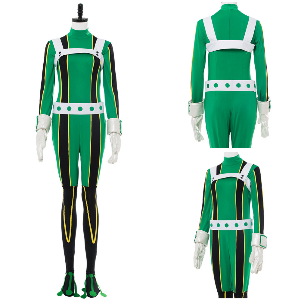 My Hero Academia Cosplay Costume Asui Tsuyu Cosplay Costume Halloween Uniform Outfit Suit