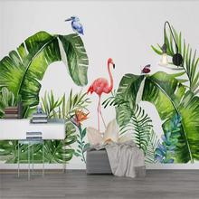 Скандинавские тропические растения Фламинго фон декоративная