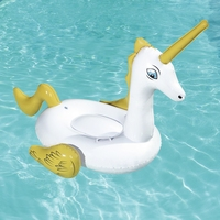 65inch Large Inflatable Fantasy Unicorn Rider For Kids Children Swimming Pool Float Ride on Mattress Beach Water Fun Toys