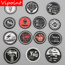 VIPOINT embroidery printed warning patches letter alphabet badges applique for clothing YM-1