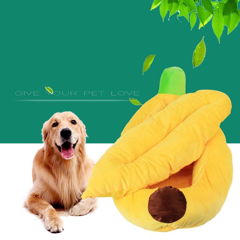 Nouveau style chien lit maison Pet chat grand chien chiot confortable doux banane chenil canapé nid tapis accessoires pour animaux fournitures produits
