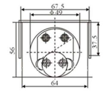 Аналоговый усилитель Панель метр колеи DC 0-50a 85C1
