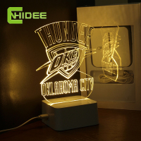 CNHidee Design Lamp NBA Light OKLAHOMA CITY Desk Light Dallas 3D Lamp Desk Lamp Creative NBA