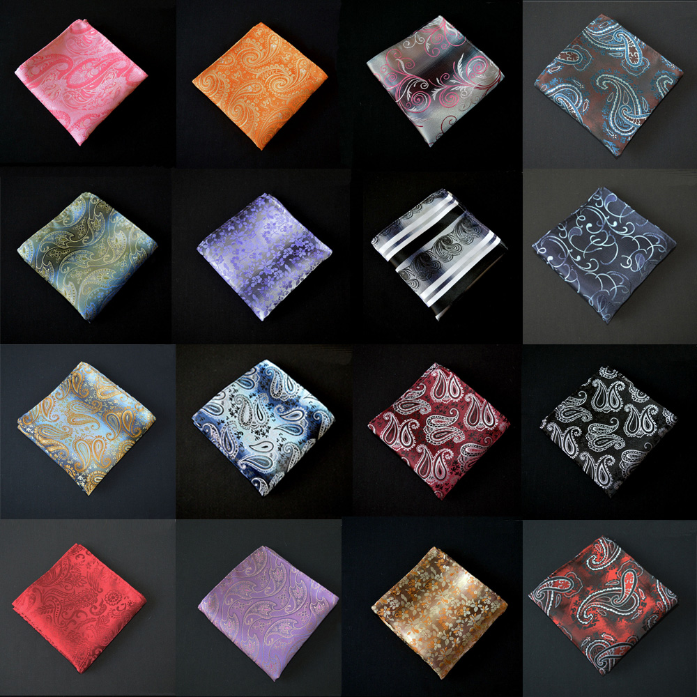 Men Paisley Flower Handkerchief Hanky Wedding Party Pocket Square New Fashion YXTIE0506